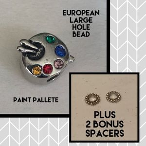 European Silver Bead - Painter's Pallete